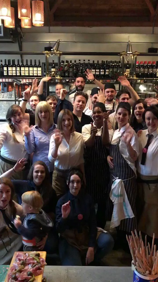 Next up, a visit to my @JamiesItalianUK York family! Big love to this wonderful team. So proud. JO x https://t.co/NXigr5lpi9