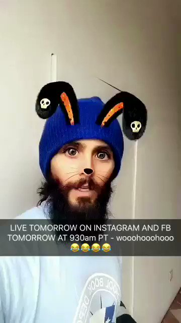 LIVE CHAT TOMORROW. NOV 1. 9:30AM PT. @30SECONDSTOMARS FB + IG. Wooohooohooo!! #HappyHalloween https://t.co/KTpzTapwgU