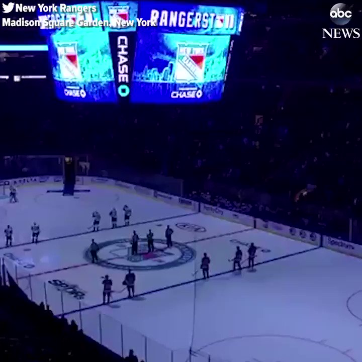 New York Rangers hold moment of silence for the victims of the deadly NYC truck attack.