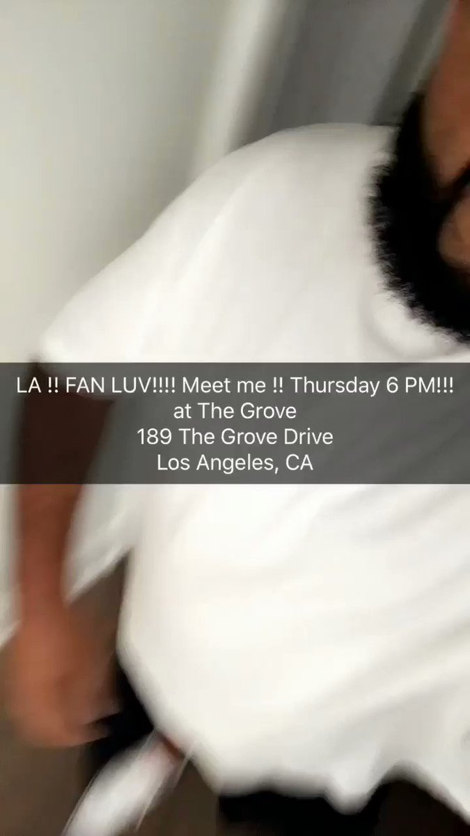 LA !! FAN LUV!!!! Meet me !! Thursday 6 PM!!! at The Grove 189 The Grove Drive Los Angeles, CA https://t.co/RH8uZQxbTK
