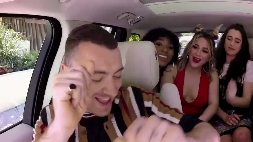 Check out @FifthHarmony joining @samsmithworld & @JKCorden for a little @latelateshow #CarpoolKaraoke ��❤️ https://t.co/44GfPVXVKm