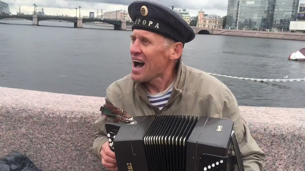 The singing sailor of St Petersburg. https://t.co/yrrzk4wOrX