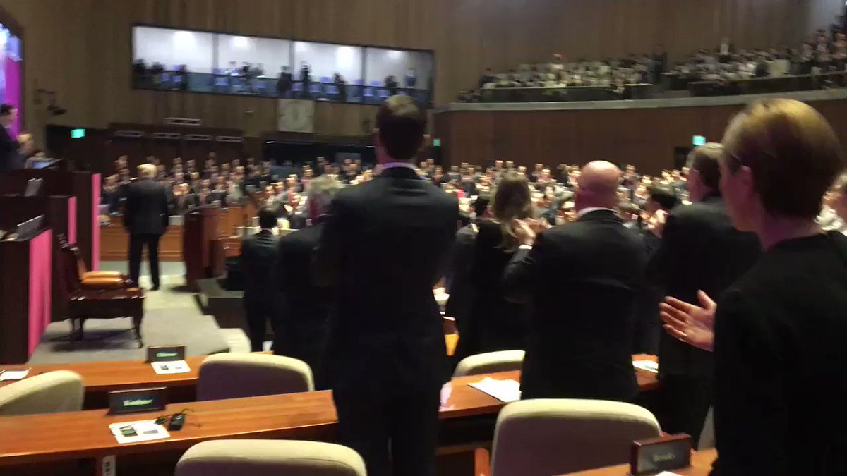 .@POTUS concludes his speech to South Korean National Assembly to standing ovation. #POTUSinAsia https://t.co/T1KyxbPRvE