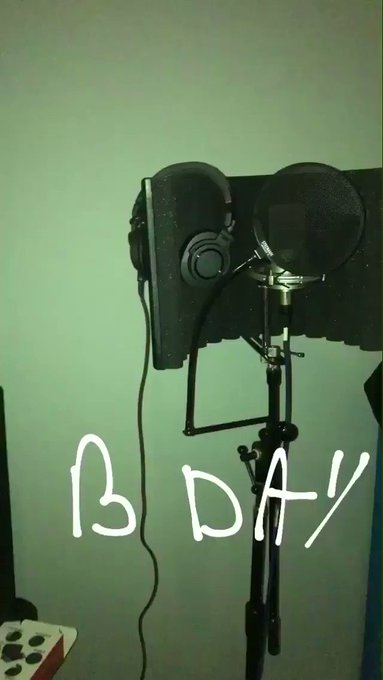 French Montana in the studio on his 33rd Birthday. Happy b-day French