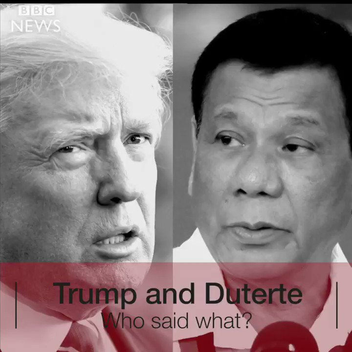 Trump v Duterte: Who said what?  https://t.co/1ivVVrmiyA https://t.co/UnErCLN2iY