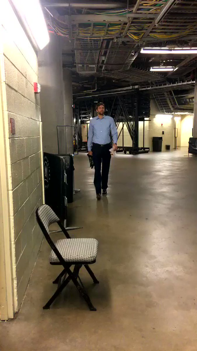 #DapperDirk has arrived for #DALvsCLE! https://t.co/MQ3so4SBFj