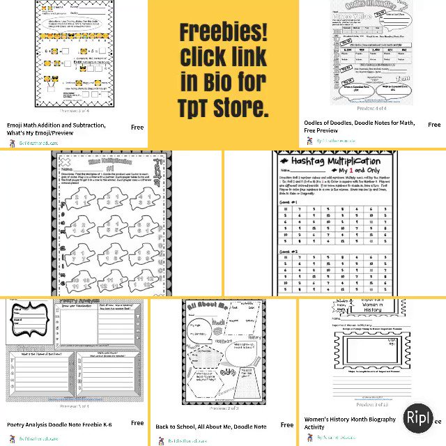Freebies. Click ink in Bio for Tpt Store.mathgames tptiteachtoofreebies via