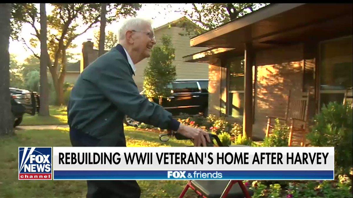 .@MarcusLuttrell helps rebuild home for WWII veteran left homeless by Harvey https://t.co/JUlt9Oj6PT https://t.co/HNEbf2Etz5