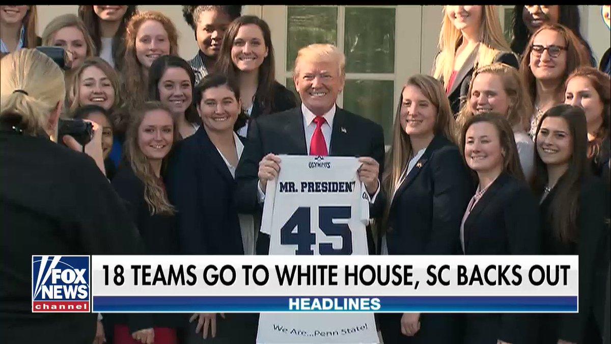 18 Teams go to the White House, South Carolina women's basketball team declines https://t.co/PPUEGu30RR https://t.co/rVmWDxK49V