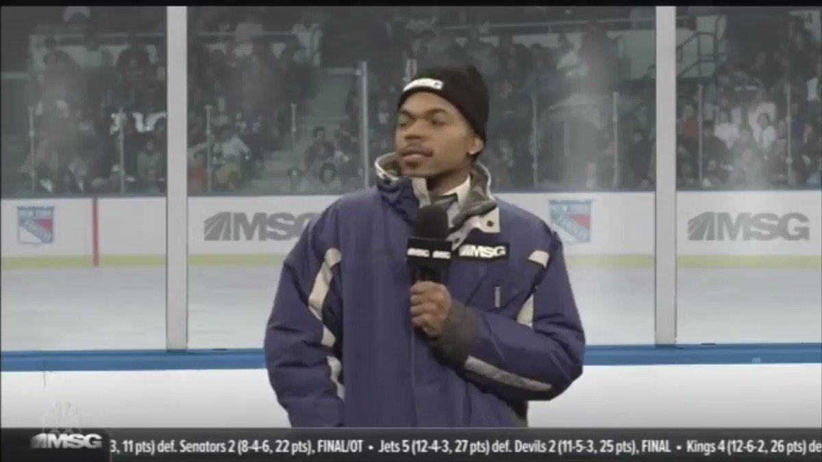 RT @HockeyCentraI: Chance the Rapper did a hockey skit on SNL, this is hilarious. 😂😂😂😂 https://t.co/CgUPbDpdCc