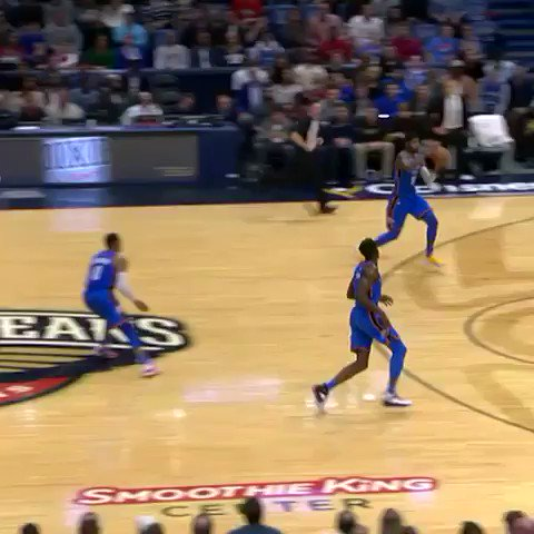 #ThunderUp  Paul George with the fancy dish! https://t.co/9mnXa1BikC