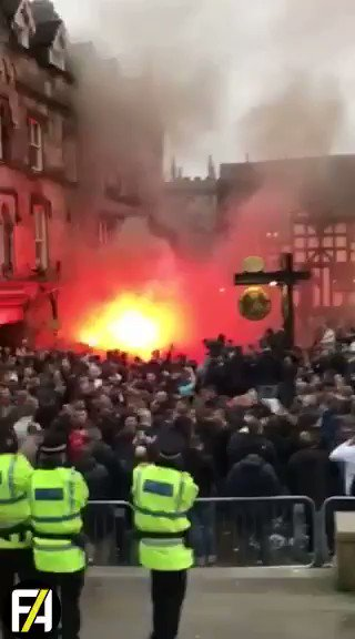 BREAKING Feyenoord fans have arrived in Manchester... 🔥