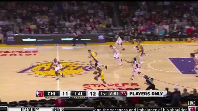 Kris Dunn blocking Lonzo Ball fastbreak layup https://t.co/M8f3lruAfl