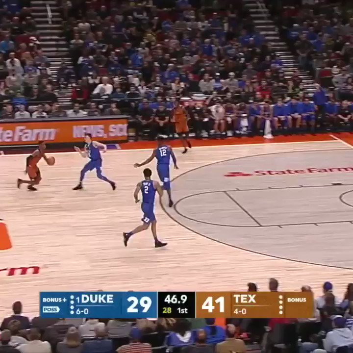 Kerwin Roach just dunked ALL OVER No. 1 Duke.   Don't miss the second half on ESPN and the ESPN App. https://t.co/vGd7SL3Qlr