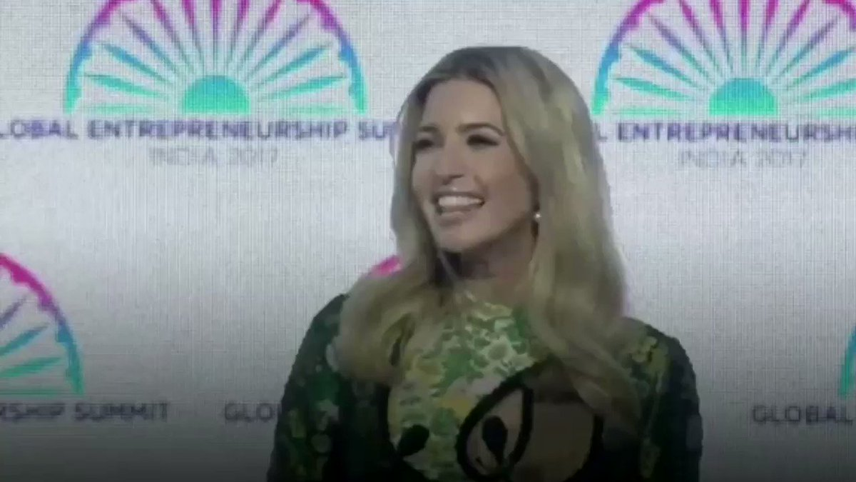 RT @Scavino45: .@IvankaTrump at @GES2017 in India with Prime Minister @narendramodi. #GES2017 https://t.co/0bTDFfkQLy