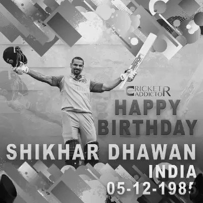 India\s dashing opener batsman Shikhar Dhawan turns 32 today. Let\s wish him a very Happy Birthday.