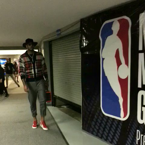 #NBAStyle   @carmeloanthony in the building for #NBAMexicoGames! https://t.co/gJMPmI0f7j
