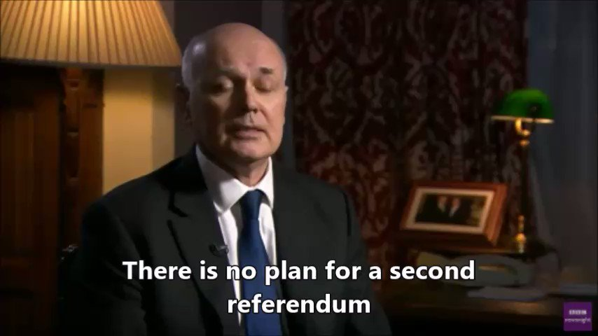 Iain Duncan Smith wanted a second EU referendum when he thought Leave were going to lose.