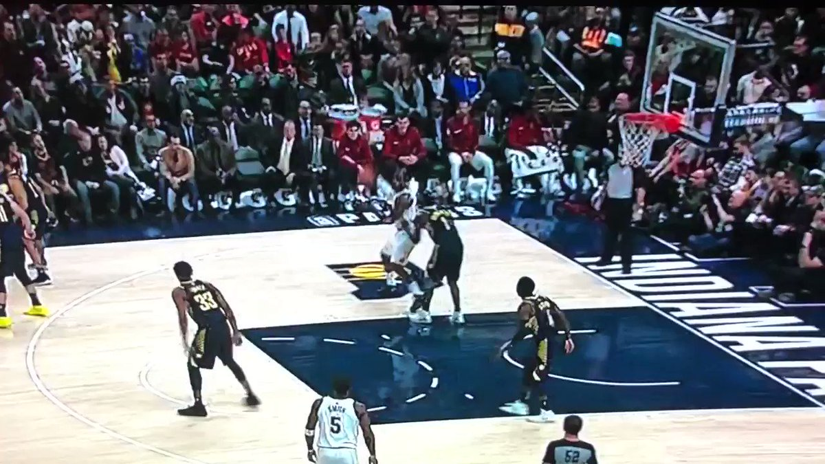 Oladipo just sent LeBron back to Ohio (they called goaltending and I don't care) https://t.co/p5QWfH50ME