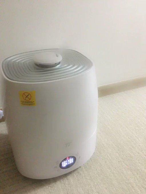 新しい加湿器😄 めっちゃ出る😄 https://t.co/knPLJCNvgy
