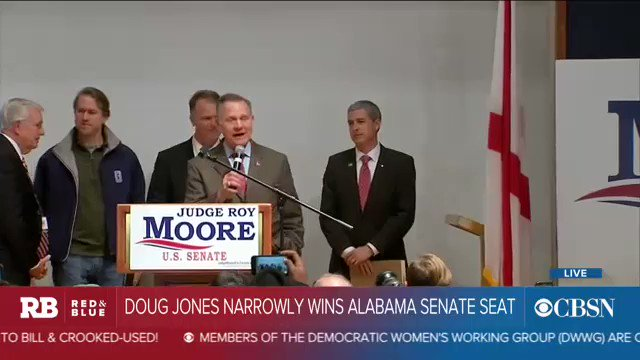 NOW: GOP candidate Roy Moore speaks after Doug Jones narrowly wins Alabama Senate seat