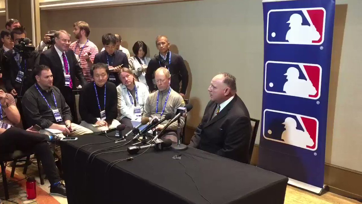 Scioscial Hour.  Watch Mike Scioscia address the media at https://t.co/dwzTLjHwFy. #WinterMeetings https://t.co/8KbzXle1bU