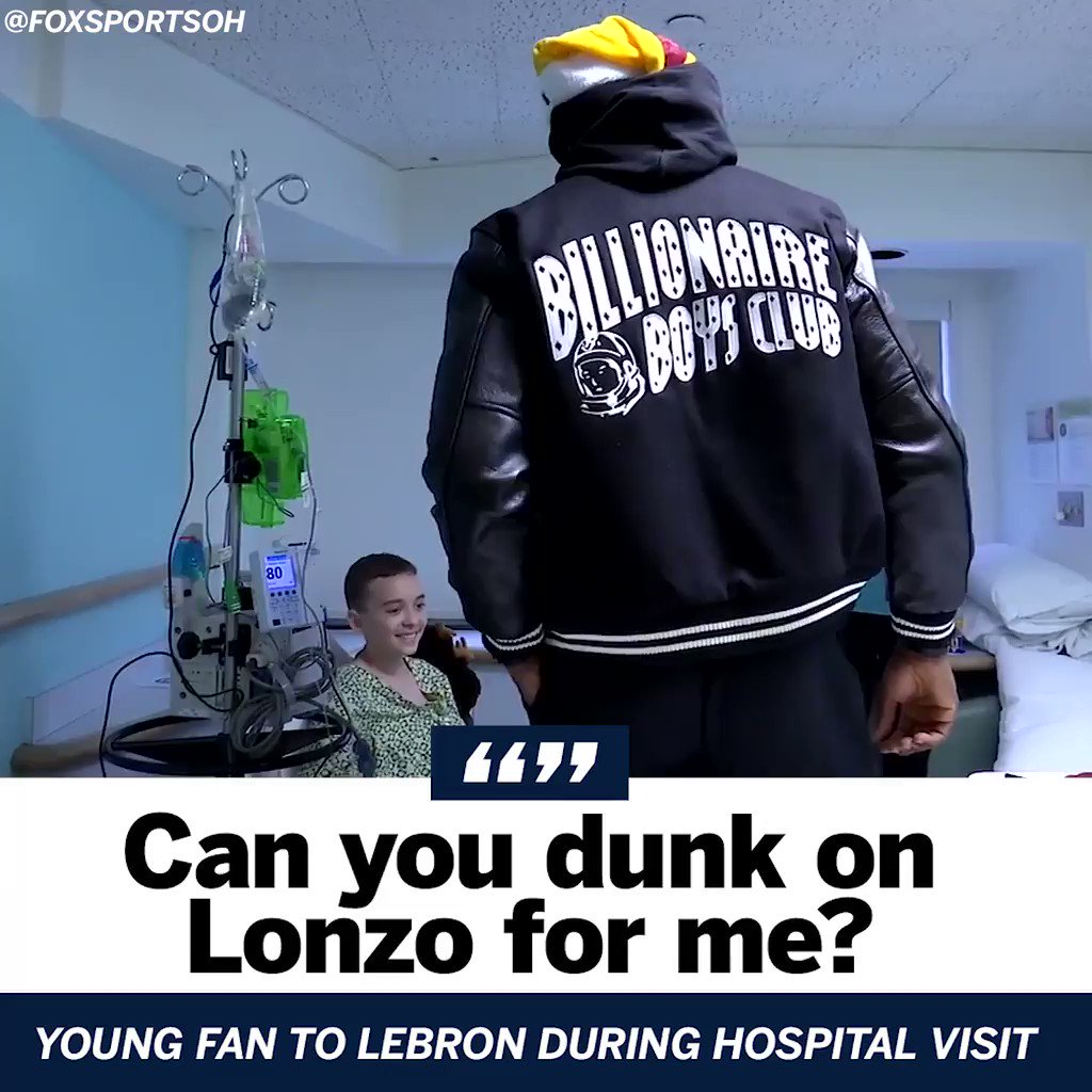 This young fan had a specific request during LeBron's hospital visit. https://t.co/GQErXmY50h