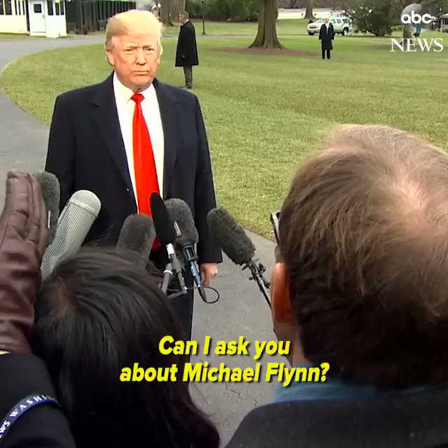 Pres. Trump tells @jonkarl, 'I don't want to talk about pardons for Michael Flynn yet.' https://t.co/FSIcfxPhGR https://t.co/pEpEONuWUe