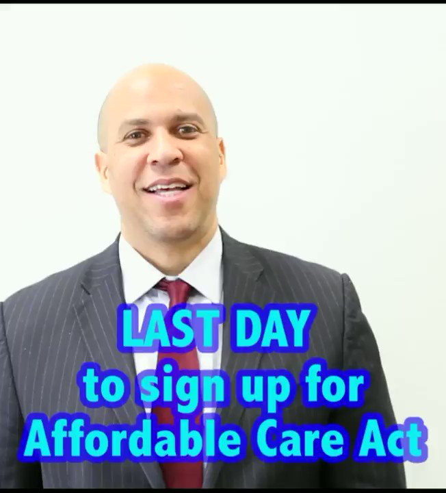 RT @CoryBooker: Spread the word! Today is the LAST day to #GetCovered at https://t.co/vzCFCQG0U1. #EnrollYoSelf https://t.co/2yT5sthTw2