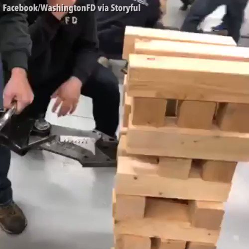 "JAWS OF LIFE JENGA: Some firefighters in Illinois decided to kill some time with an intense game of ""Hydraulic Jenga."" https://t.co/1dDGhVWQv0 https://t.co/yahmsXZ7mK"