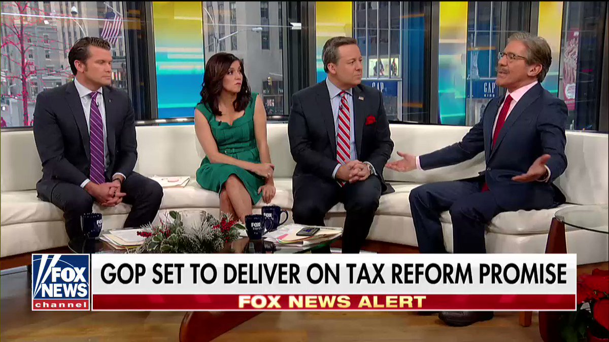 .@GeraldoRivera on the tax bill: 'We have unleashed the fury of the American enterprise system.' https://t.co/H8O7lowKz6