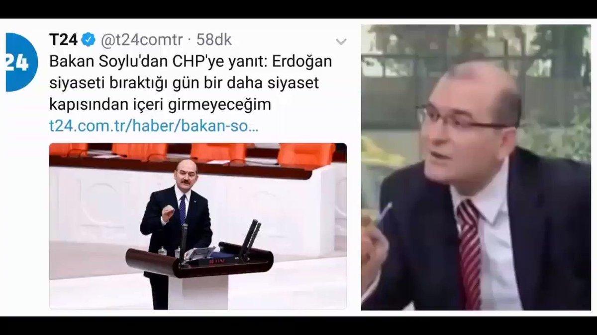 'Bana AKP'li olacak diyenler Yassıada zihniyetinin ürünleridir.' diyen S.Soylu'nun namus ve şereften bahsetmesi... https://t.co/8PuyQqWTlN