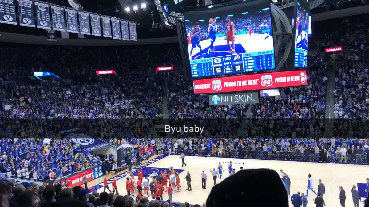This was a blast - s/o to my pops for getting me tickets the day I get in town #byuhoops #gocougs https://t.co/z4iBv7yeqo