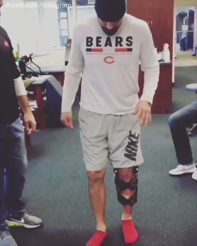 After nearly having his leg amputated in October, Bears TE Zach Miller is walking again. https://t.co/HVUsGJ0IOh