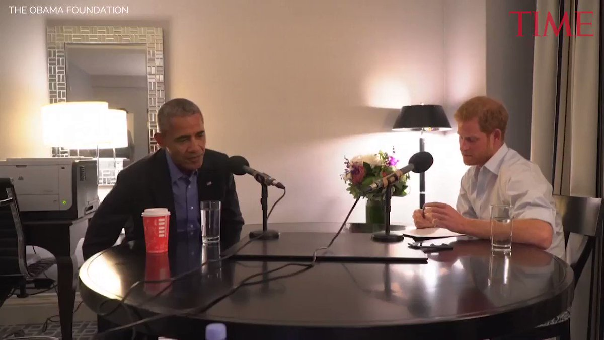 'Nervous' Prince Harry interviews Barack Obama for radio show