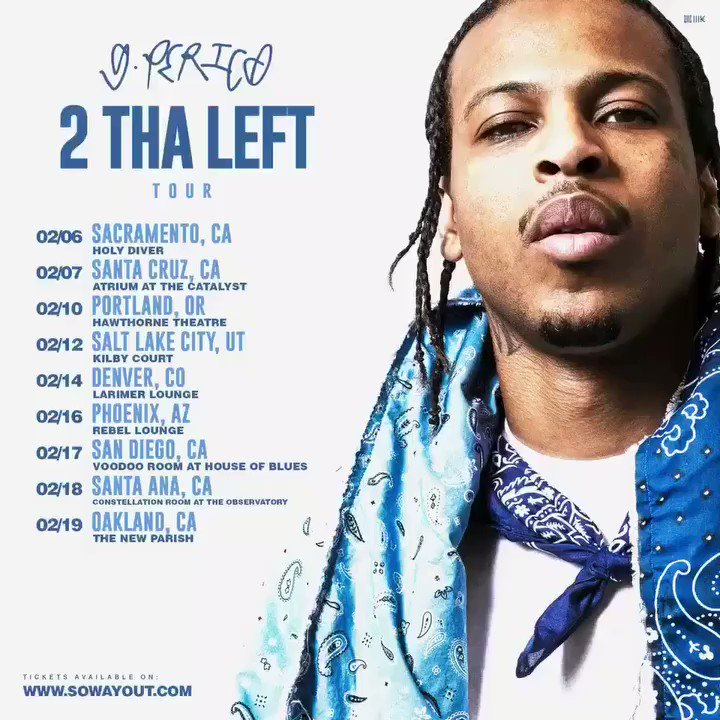 RT @BGPerico: On my way 2 Yo city !! #2THALEFT Tour. Ticcets officially on sell now. ???????? https://t.co/hfSplNhga5 https://t.co/W4c4ONjRmD