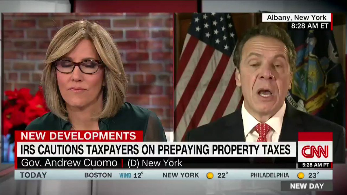 New York Gov. Cuomo says the GOP tax bill will 'pillage' blue states