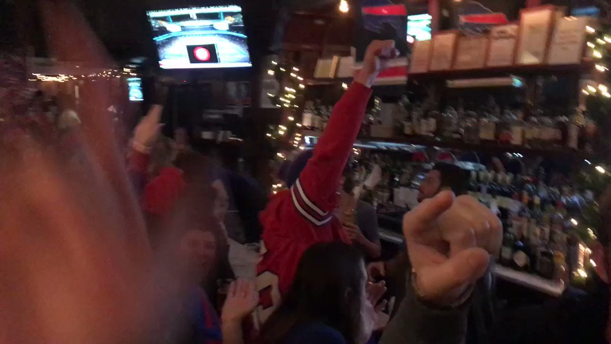 I'm at McFadden's in NYC. This was the reaction to the #Bengal pick six #Bills https://t.co/J3yfDAm7sZ