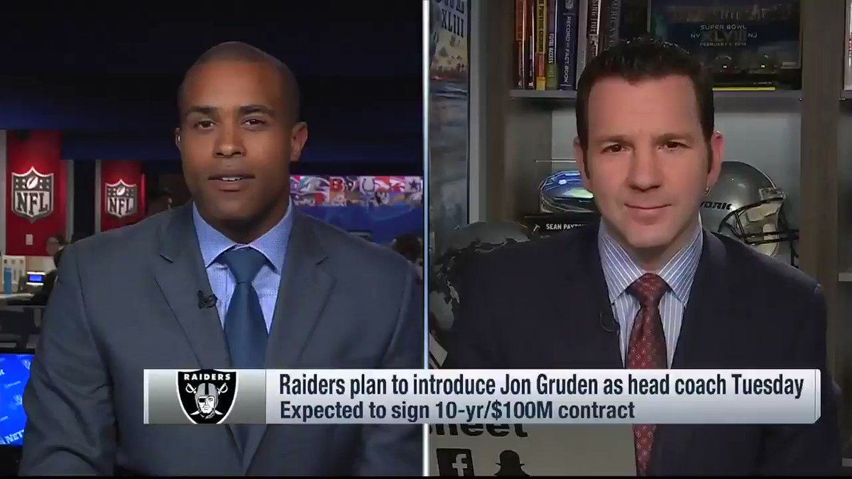 From Up to the Minute Live: The #Raiders are going to pay Jon Gruden a LOT of money. https://t.co/vx1ZDaiy3B