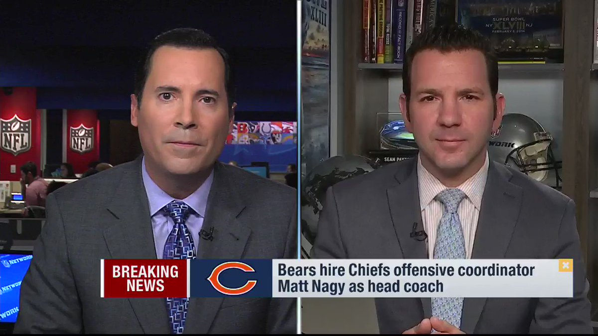 The #Bears have hired a head coach: #Chiefs OC Matt Nagy takes over, which we break down on a breaking news segment. https://t.co/yr0xWX0qSZ