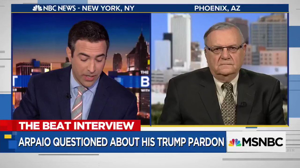 Arpaio responding to Trump 'shithole countries' remark: 'I'm not going to question what the President said' https://t.co/vEi6yUCan4