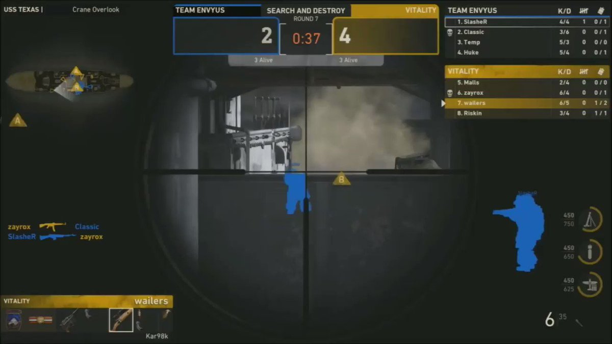 OH MY WORD @RSKNXZU WHAT WAS THAT??????? 😱😱😱😱  We tie the series 1-1 after taking 6 rounds in a row on the SnD to take the map 6-2 #CWLNOLA https://t.co/3QukuEH7bn