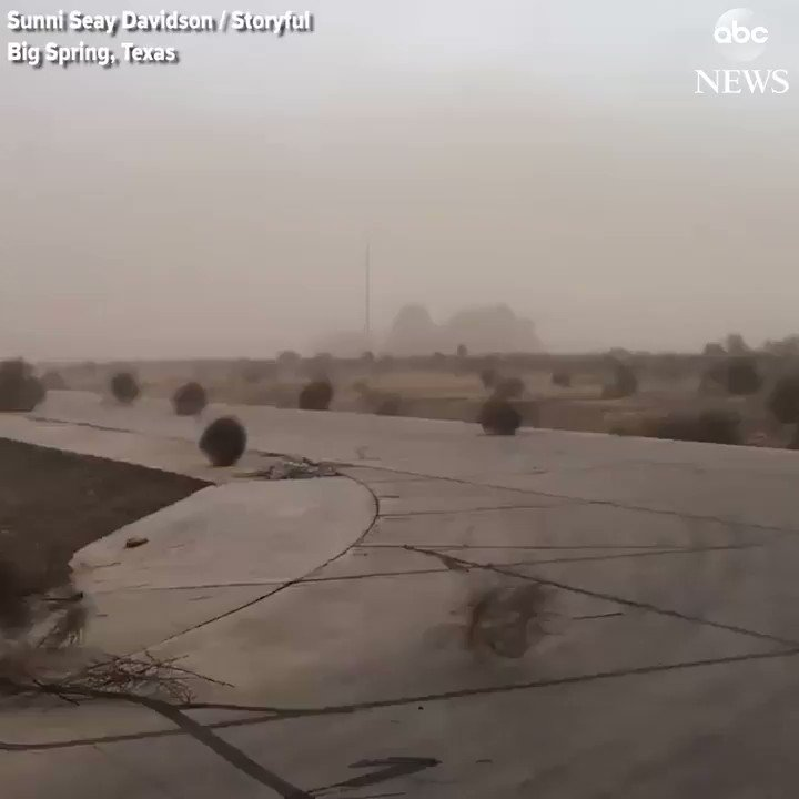 Winter storm blows hundreds of tumbleweeds across the landscape in Big Spring, Texas. https://t.co/3DSc0IjqDx https://t.co/OGKzYDHk0r