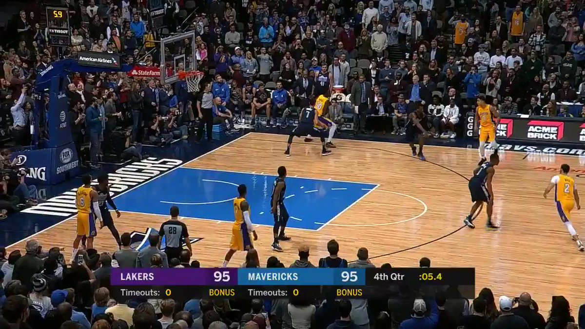 RT @dallasmavs: Great help defense by the rook, and we're headed to OT! #DALvsLAL https://t.co/BBKhJ7Iqqg