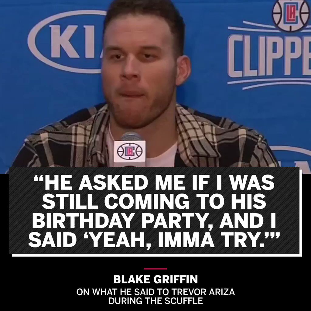 Blake Griffin's version of what was said during the scuffle �� https://t.co/JqfYqlHgDT