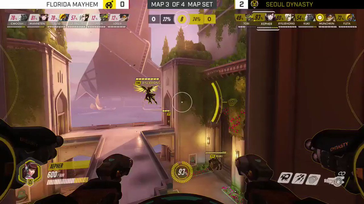 Fleta rained justice from above as Pharah for the @SeoulDynasty in Week 2 of the Overwatch League. https://t.co/9z8MnbWKoE