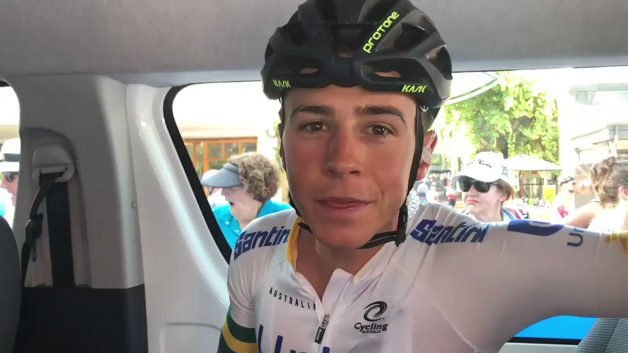 At the start of a sweltering Stage 4 of the @tourdownunder, #TeamUniSA told us their favourite parts of the #TDU so far 🚴🏻‍♀️😃🎈☀️ https://t.co/6U2EAjzPEx