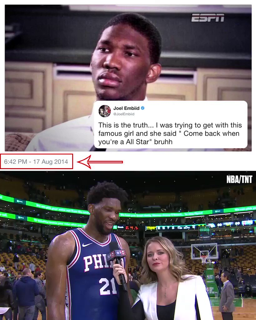 Embiid is on to the next one. �� https://t.co/dejNHsLbXK