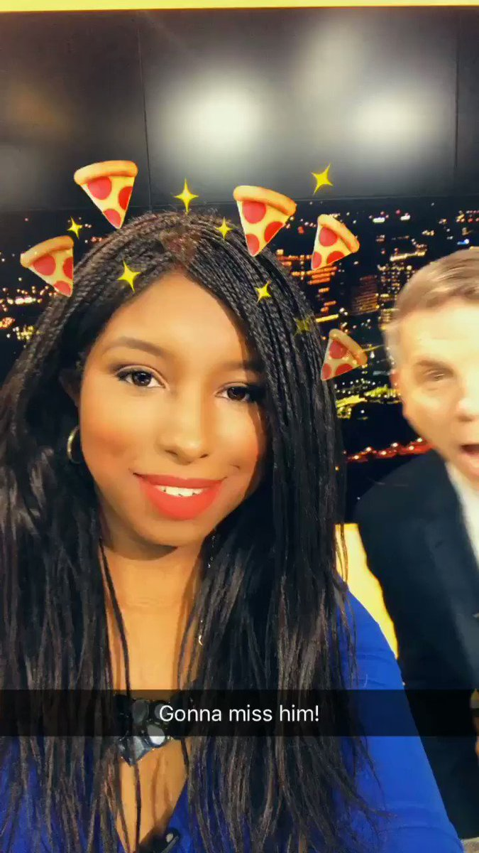 I'm gonna miss my awesome/goofy/crazy/funny co-anchor @Morgan8news and all my amazing co-workers! 😩 🍕 #RVA #GMRVA https://t.co/TGvBpDk9en