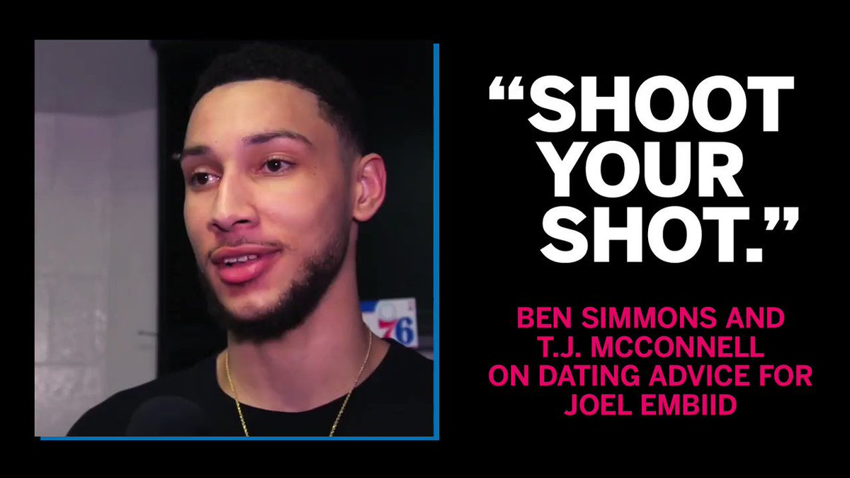 Don't worry Joel, your teammates got you on dating advice. https://t.co/h42lQp1r9T